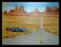 Monument Valley,Route 66,USA,Airbrush,Hunziker-Airbrushdesign